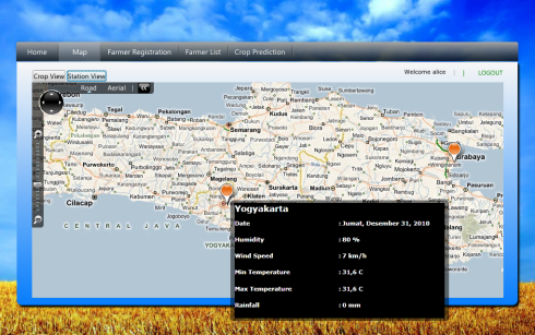 The Interface of Agrion Website